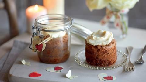 Brownie chocolat-gingembre et crème à l'abricot