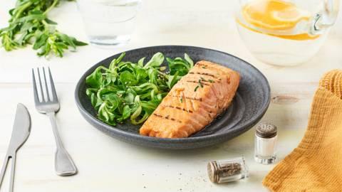 Pavés de saumon grillés à l'estragon au barbecue