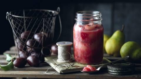 Chutney de prunes et de poires