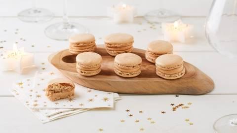 Macarons au foie gras et aux épices