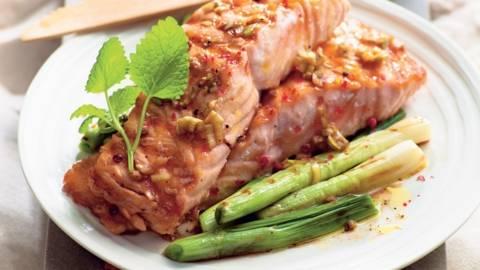 Saumon mariné à l'asiatique