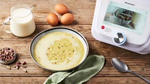 Crème anglaise pistache au Monsieur Cuisine