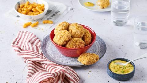 Nuggets de poulet panés au Curly et mayonnaise à la ciboulette