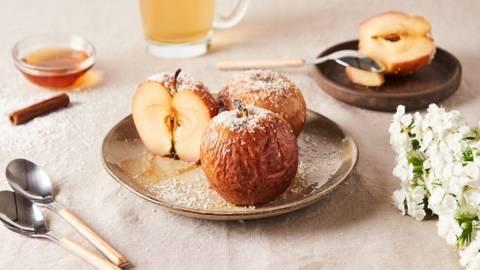 Pommes rôties à la noix de coco râpée