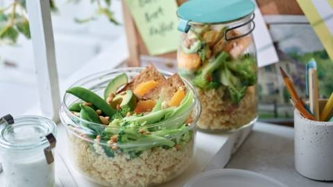 Power bowl au boulgour et tofu