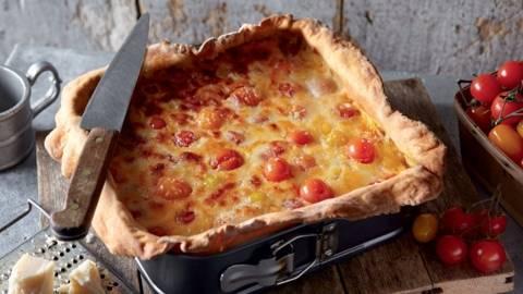 Quiche aux tomates et fromages italiens