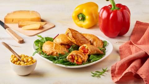 Empanadas végétariens au maïs, poivron et fromage