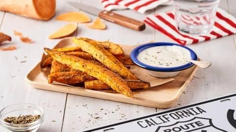 Frites potatoes maison, sauce blanche à l'échalote