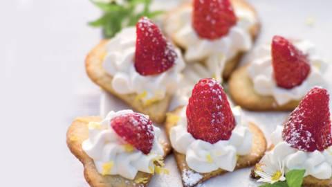 Cœurs à la fraise et crème de citron