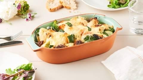 Gratin de courgettes et légumes printaniers