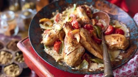Chili de poulet à l'indienne