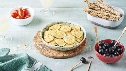 Rondelles de courgettes au parmesan façon chips