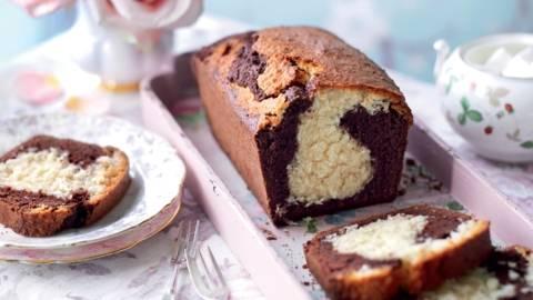 Cake marbré coco-chocolat