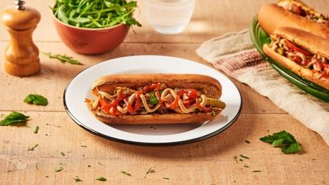 Hot dog au poulet