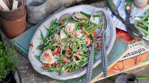 Salade d'haricots verts à la noix de coco