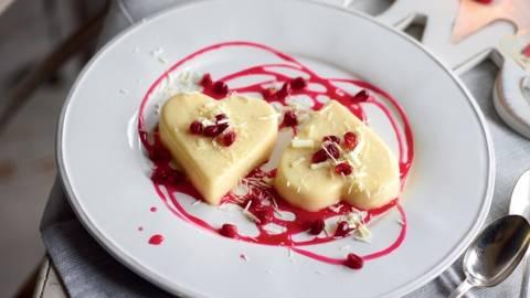 Cœur à la crème de citron et grenade