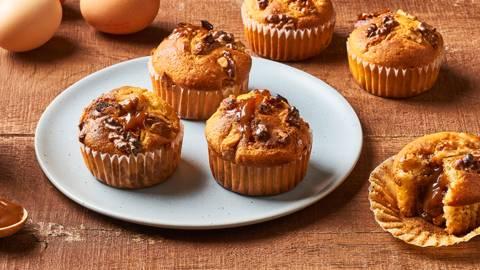 Muffins noix et caramel au beurre salé