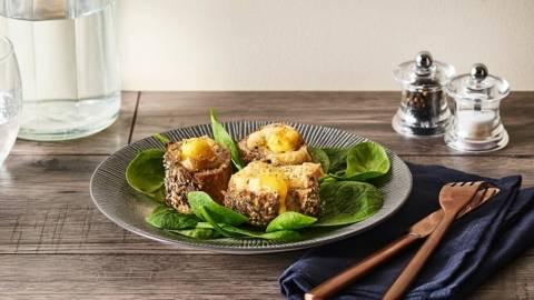 Mouillettes d'œufs cocottes au Morbier