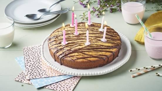 Cake bi-couche chocolat et vanille