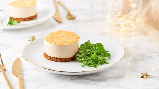 Mini cheese cake au foie gras