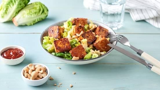 Tofu mariné et grillé sauce barbecue