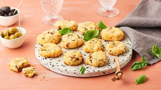 Cookies parmesan et tomates séchées