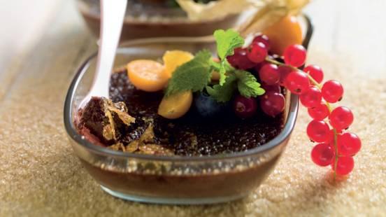 Crème brûlée chocolat-gingembre
