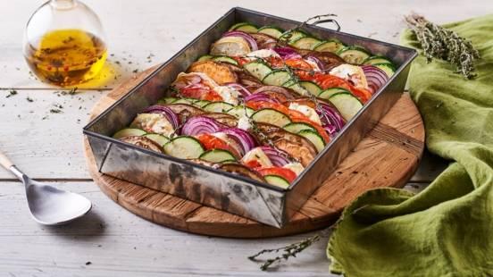 Tian de légumes et Sainte-Maure