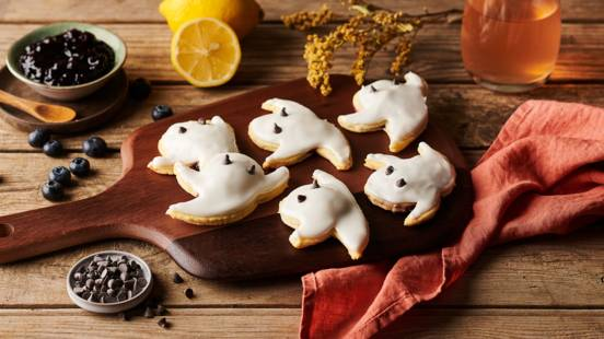 Ghosts pop tarts vanille et myrtille