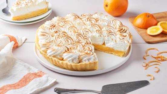 Tarte à l'orange meringuée
