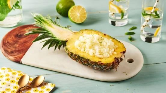 Granité ananas et citron vert
