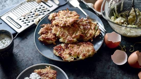 Galettes de pommes de terre et poireau façon rösti