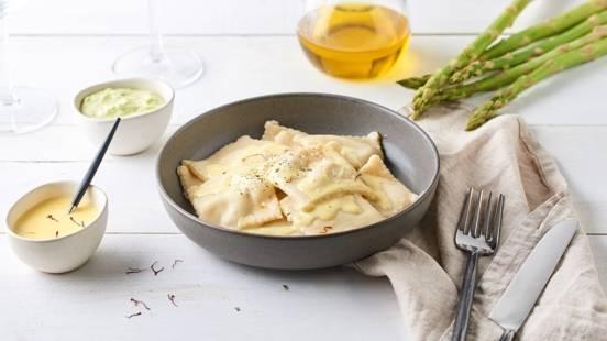 Raviolis à la crème d'asperges