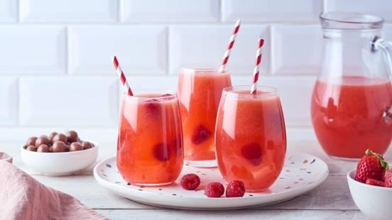 Ice tea à la fraise et framboise
