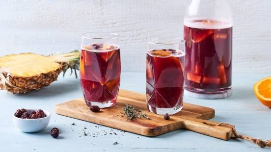 Sangria cranberries et ananas