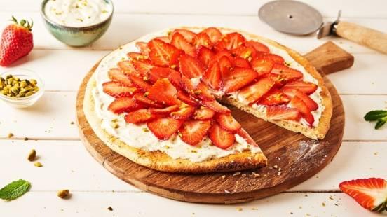 Pizza sucrée à la fraise