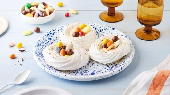 Minis pavlovas de Pâques et crème de citron
