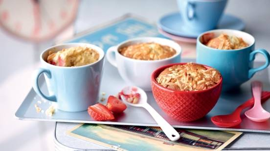 Mug cake aux fraises