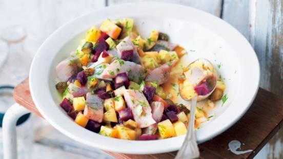 Salade de harengs à la betterave