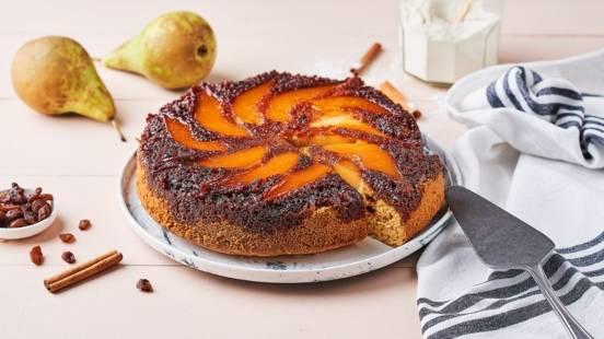 Gâteau tatin poire et cannelle