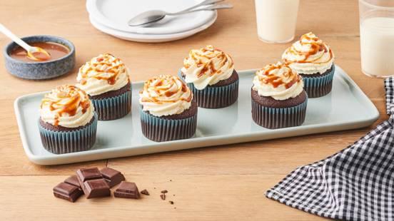 Cupcakes au chocolat et coulis de caramel au whisky