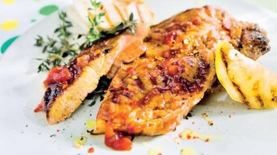 Côtelettes marinées sauce barbecue