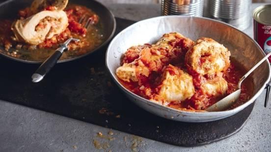 Roulés de poulet farcis à la tomate