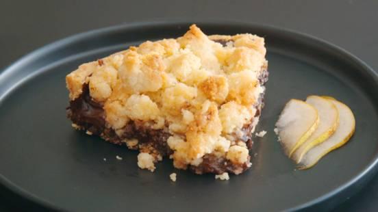 Tarte crumble poire chocolat