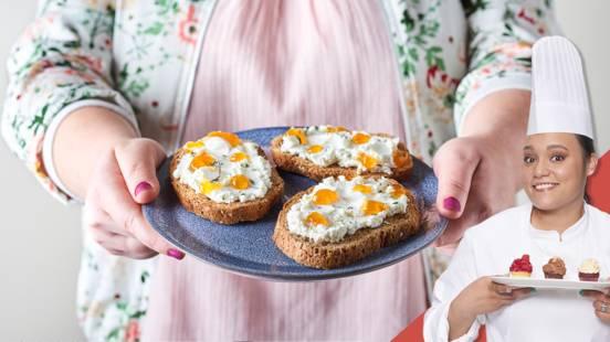 Toasts chèvre abricot thym