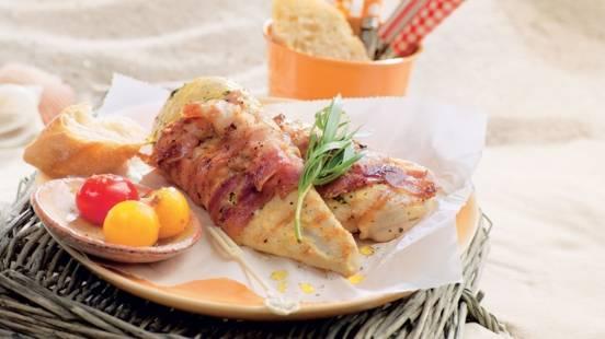 Escalopes de poulet au lard