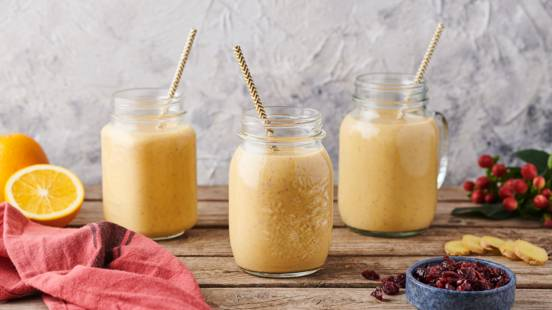 Smoothie Energy : orange, cranberry, gingembre et cannelle