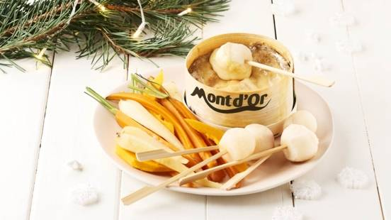Mont d'Or chaud avec ses légumes d'hiver
