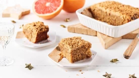 Crumb Cake au pamplemousse et poudre d'amandes