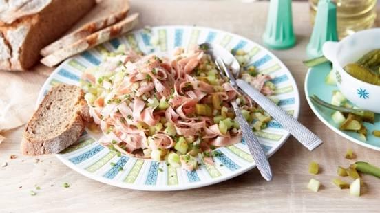 Salade de Mortadelle et concombre
